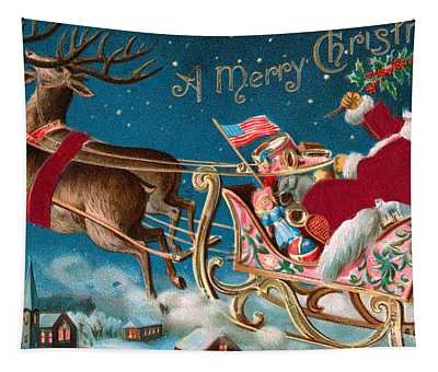 Victorian Christmas Card Tapestry