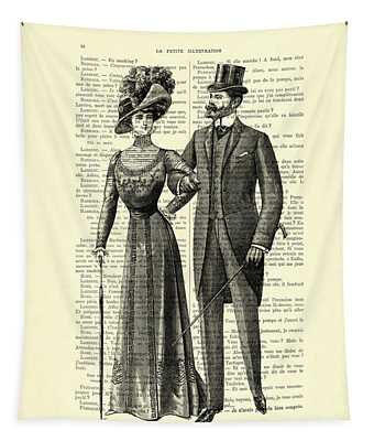 Victorian Couple Tapestry