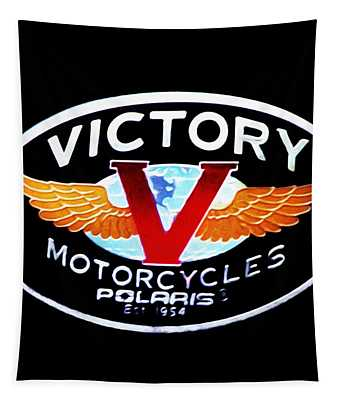 Victory Motorcycles Emblem Tapestry