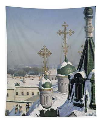 View From A Window Of The Moscow School Of Painting Tapestry