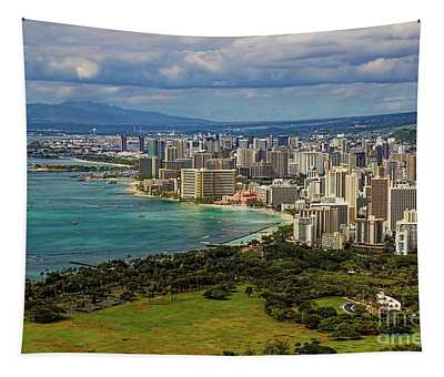 View From Diamond Head Tapestry