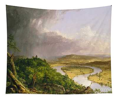 View From Mount Holyoke, Northampton, Massachusetts, After A Thunderstorm The Oxbow, 1836 Tapestry