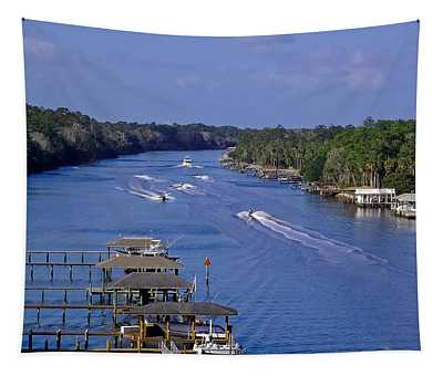 View From The Bridge Of Lions Tapestry