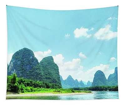 A Moment On Li River Tapestry