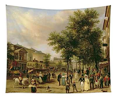 View Of Boulevard Montmartre Tapestry