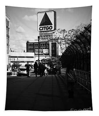 View Of Citgo Sign From David Ortiz Bridge, Boston, Massachusetts Tapestry