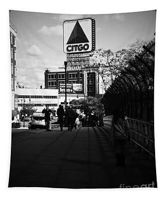 View Of Citgo Sign From David Ortiz Bridge, Boston, Massachusetts Tapestry