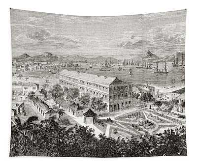 View Of Hong Kong And Its Harbour In Tapestry
