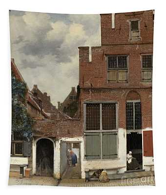 View Of Houses In Delft, Known As The Little Street Tapestry