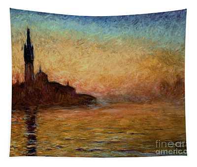 View Of San Giorgio Maggiore Venice By Twilight Tapestry