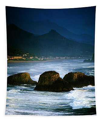 View Of Storm Over Cannon Beach From Tapestry