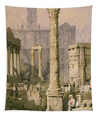 View Of The Forum, Rome  Tapestry