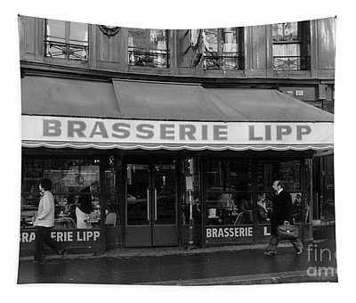 View Of The Lipp Restaurant In Saint Germain Des Pres In Paris On March 2, 1979 Tapestry