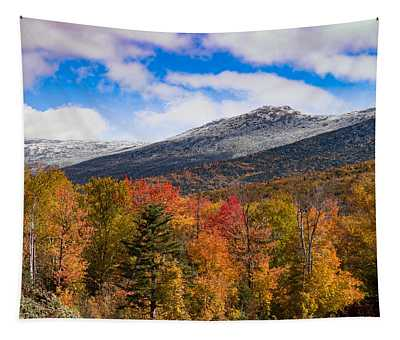 View Of The Presidential Mountains Tapestry