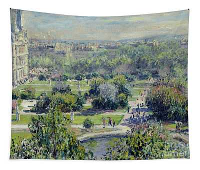 View Of The Tuileries Gardens Tapestry