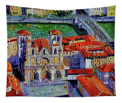View Over Cathedral Saint Jean Lyon Tapestry