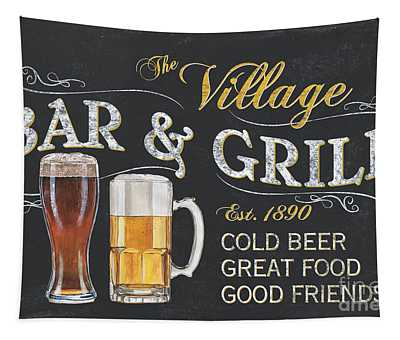 Village Bar And Grill Tapestry