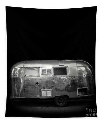 Vintage Airstream Travel Camper Trailer Square Tapestry