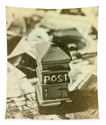 Vintage Australian Postage Art Tapestry