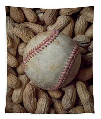 Vintage Baseball And Peanuts Square Tapestry