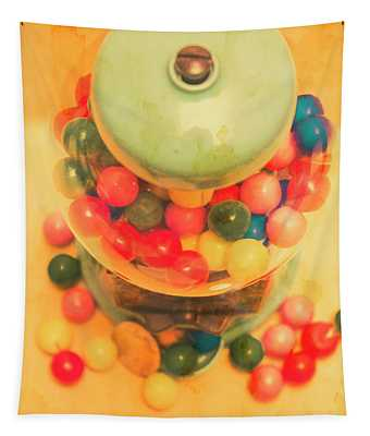 Vintage Candy Machine Tapestry