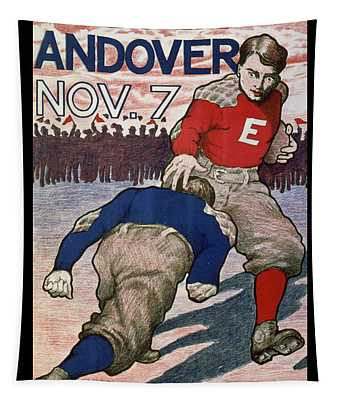 Vintage College Football Exeter Andover Tapestry