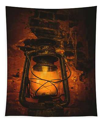 Vintage Colonial Lantern Tapestry