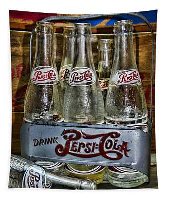 Vintage Double Dot Metal Pepsi Carrier. Tapestry