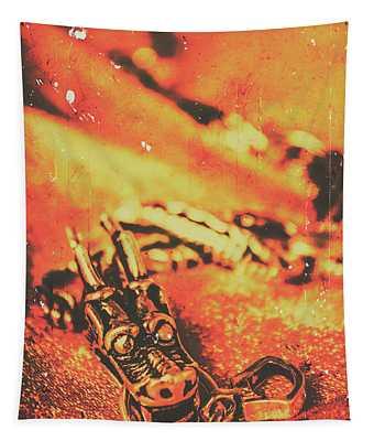 Vintage Dragon Charm Tapestry