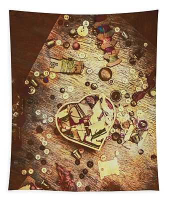 Vintage Dressmakers Table Tapestry