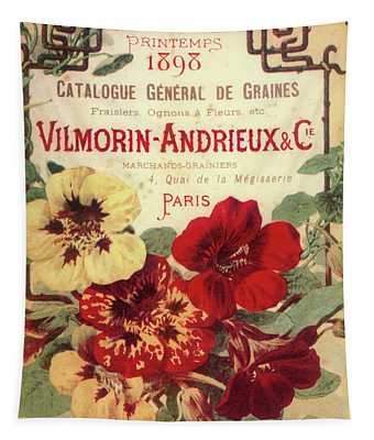 Vintage Flower Seed Cover Paris Rare Tapestry