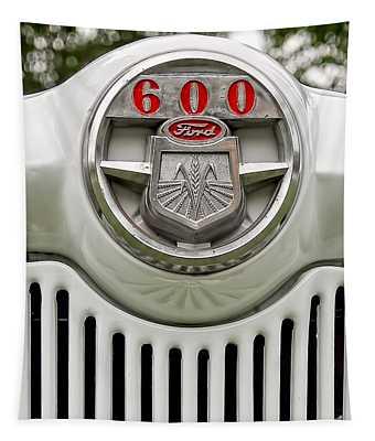 Vintage Ford 600 Nameplate Emblem Tapestry