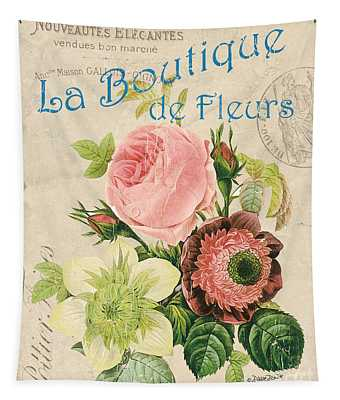Vintage French Flower Shop 2 Tapestry