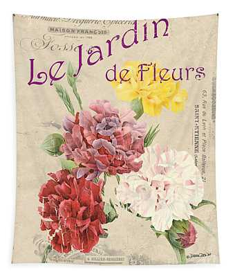 Vintage French Flower Shop 4 Tapestry