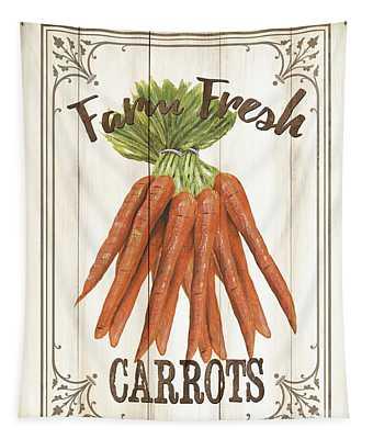 Vintage Fresh Vegetables 3 Tapestry