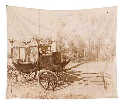 Vintage Funeral Hearse Tapestry