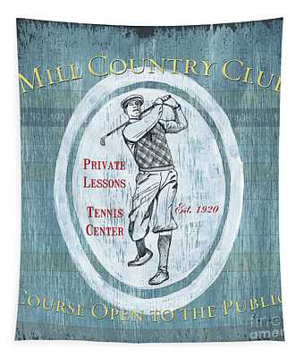 Vintage Golf Blue 2 Tapestry