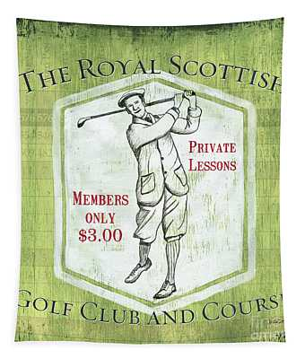 Vintage Golf Green 1 Tapestry
