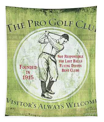 Vintage Golf Green 2 Tapestry