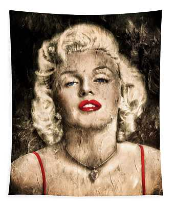 Vintage Grunge Goddess Marilyn Monroe  Tapestry
