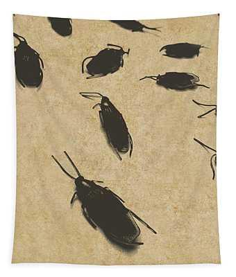 Vintage Infestation Tapestry