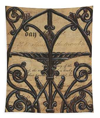 Vintage Iron Scroll Gate 1 Tapestry