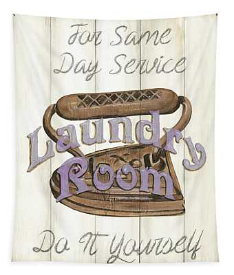 Vintage Laundry Room 1 Tapestry