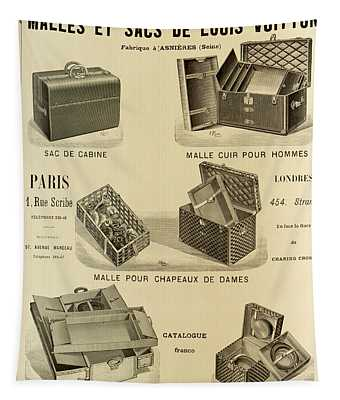 Vintage Louis Vuitton Advertisement - 1898 Tapestry