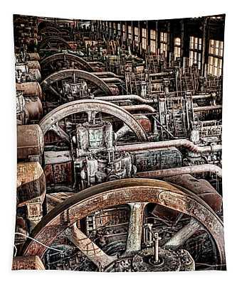 Vintage Machinery Tapestry