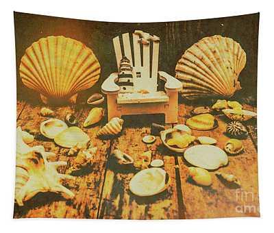 Vintage Marine Scene Tapestry
