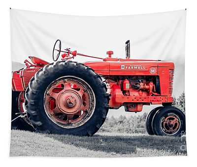 Vintage Mccormick Farmall Tractor Tapestry