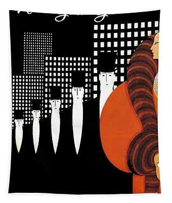Vintage New York Glamour Art Deco Tapestry