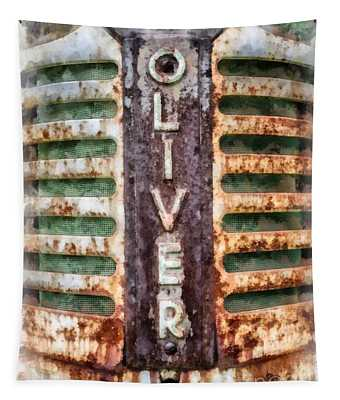 Vintage Oliver Tractor Grill Tapestry