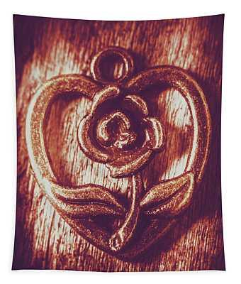 Vintage Ornamental Rose Tapestry